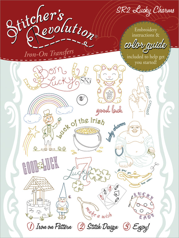 Stitcher's Revolution Iron-On Transfers-Lucky Charms
