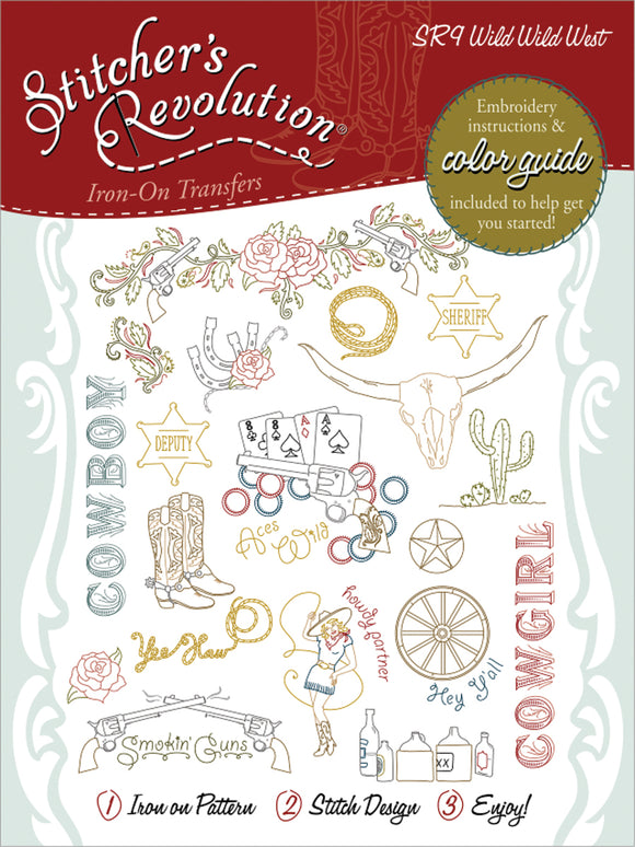 Stitcher's Revolution Iron-On Transfers-Wild Wild West