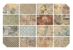 "16 pcs Eclectic Elements Wallflower-Tim Holtz 18""X21""Fat Quarters-Fabric Bundle-OOP-Discountinued"