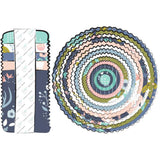 "40 pcs Meadow-Camelot Design Studio 2.5"" Strips-Fabric Strips-Design Roll"