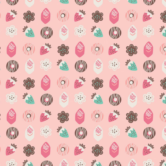 Gingerbread Bakery Petits Fours in Light Pink Fabric by Paula Mcgloin