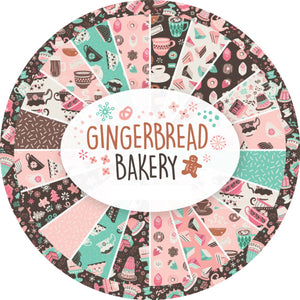 15 pcs Gingerbread Bakery Fat Quarter Fabric Bundle by Paula Mcgloin