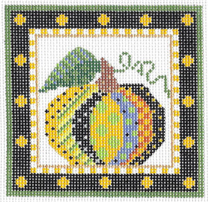 Kelly Clark Sun Fleur & Gourd Hand Painted Needlepoint Canvas