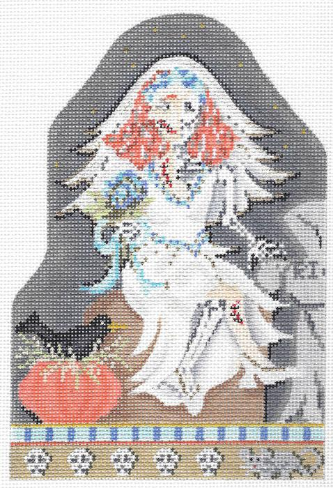 Kelly Clark Frank E Stein Hand Painted Needlepoint Canvas