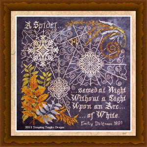 Tempting Tangles Arc of White Counted Cross Stitch Pattern