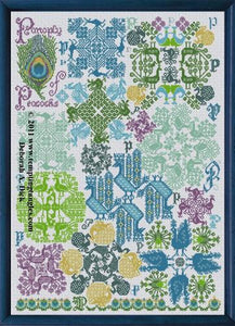 Tempting Tangles Panoply of Peacocks Counted Cross Stitch Pattern