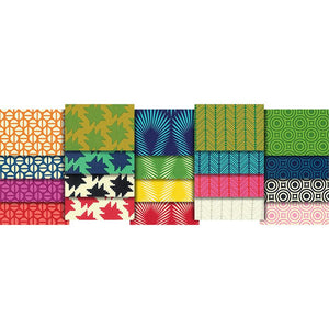 "20 pcs True Colors-Heather Bailey- 18""X21"" Fat Quarters-Retro Print-Material"