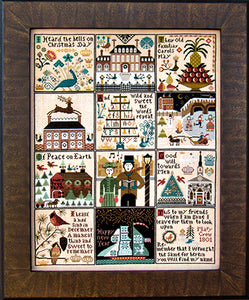 Carriage House Samplings Christmas at Hawk Run Hollow Counted Cross Stitch Pattern