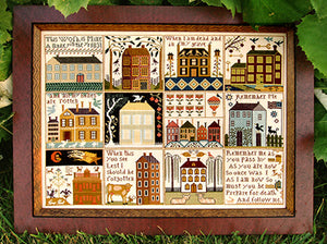 Carriage House Samplings Houses of Hawk Run Hollow Counted Cross Stitch Pattern