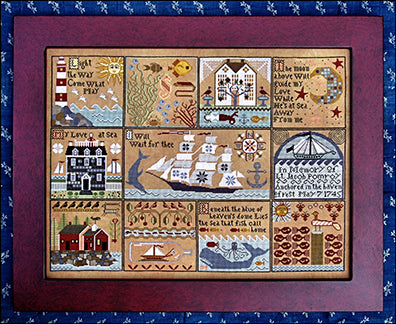 Carriage House Samplings Shores of Hawk Run Hollow Counted Cross Stitch Pattern