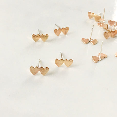 Double Heart Studs, Support the Human Rights Campaign