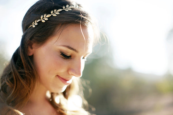 Athena Crown - Gold, Silver, or Rose Gold Leaf Crown // Headband, Bridal or Special Occasion Ties Headband