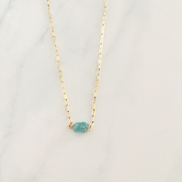 Aquamarine - Healing Crystal Necklace
