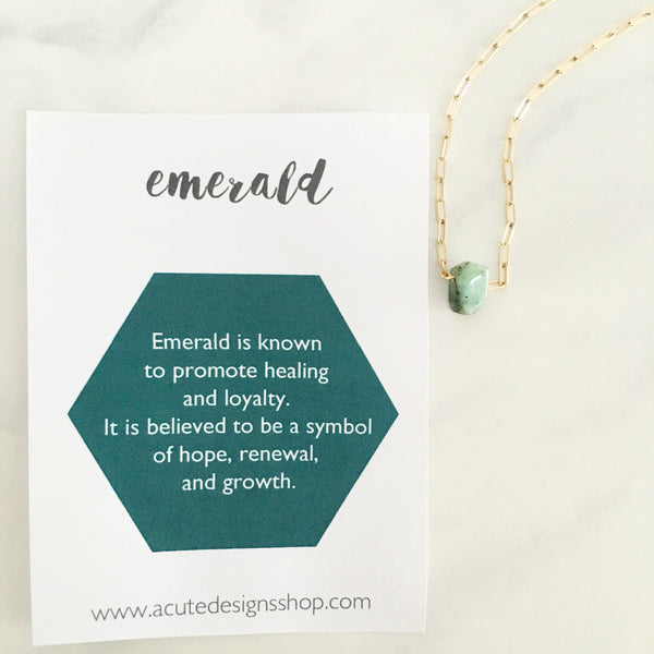 Emerald - Healing Crystal Necklace