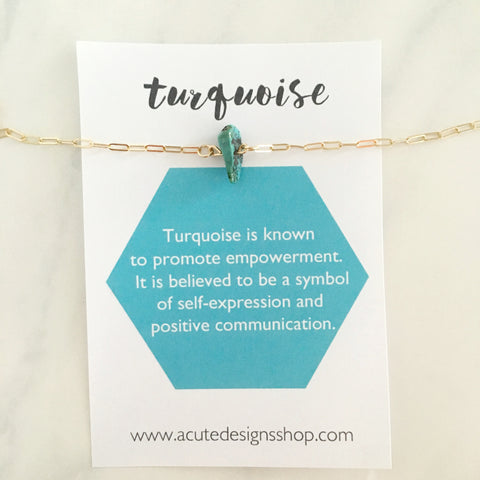 Turquoise - Healing Crystal Necklace