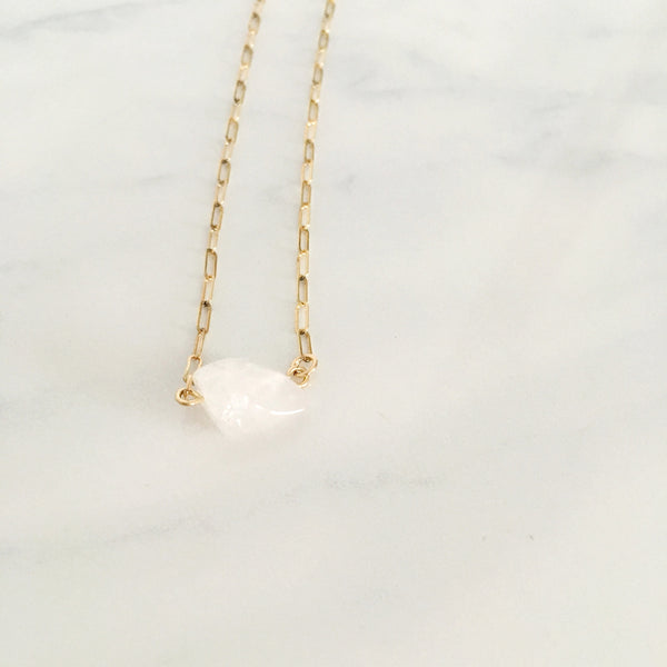 Rose Quartz - Healing Crystal Necklace