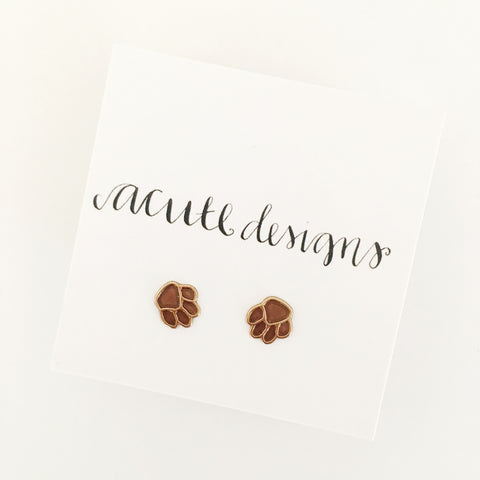 Paw Print Studs, Support Animal Welfare