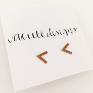 arrow studs, minimal gold earrings