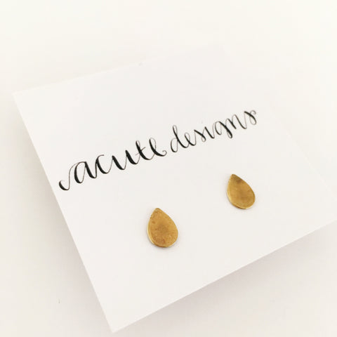 Raindrop Studs, Support Water.Org