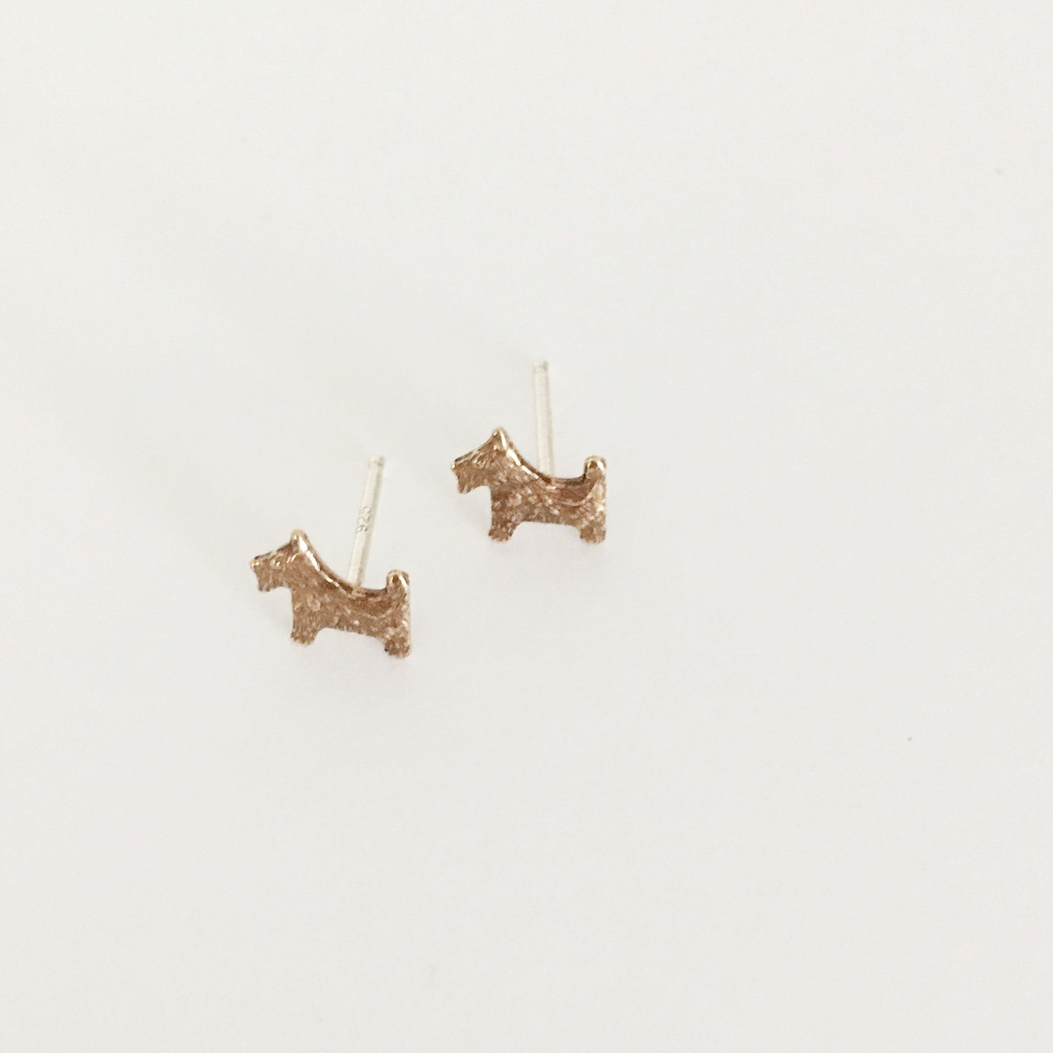 scottie dog stud earrings