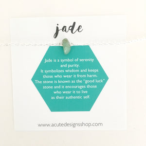 jade healing crystal necklace