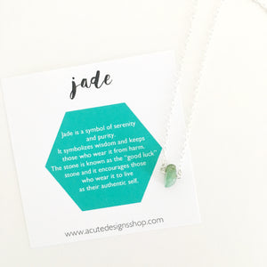 jade healing gemstone necklace
