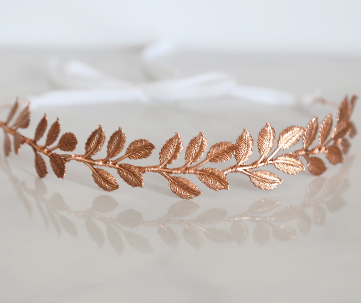 rose gold bridal hair accessories