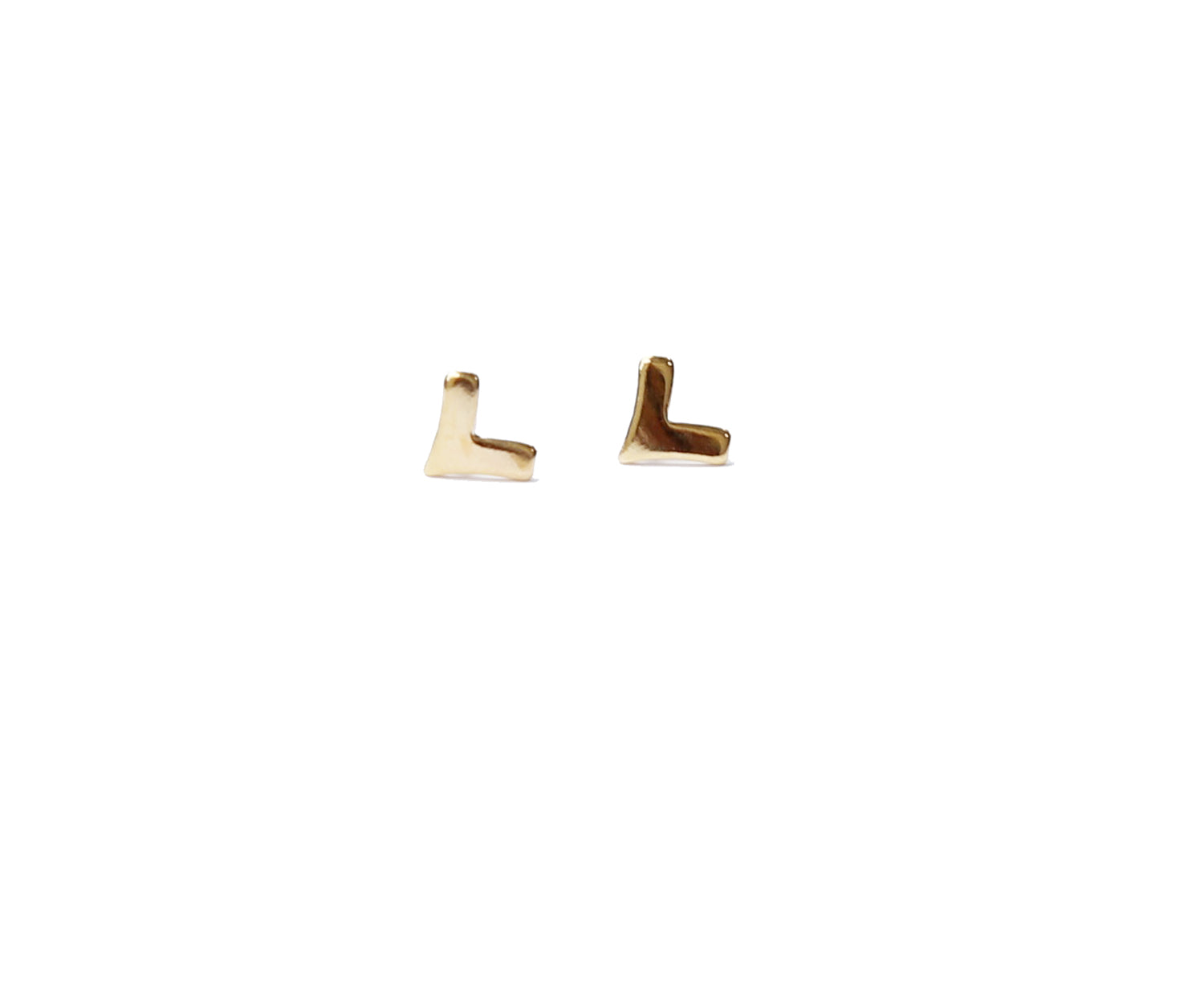 minimal gold stud earrings