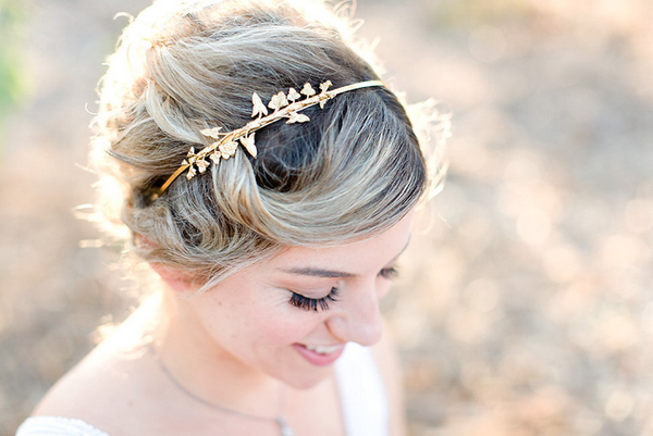 Double Flower Vine Rose Gold Headband - A Delicate Floral Headband