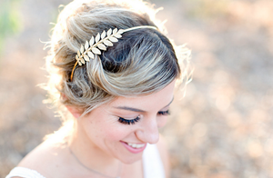 gold laurel leaf headband