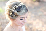 wedding headband gold