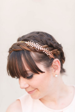 Little Laurels - Rose Gold Leaf Headband