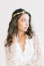 Gold Leaf Vine and Swarovski Crown