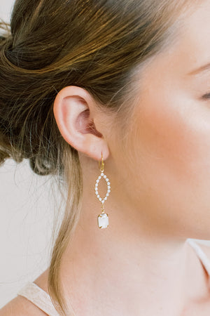 Delicate White Swarovski Cluster Earrings