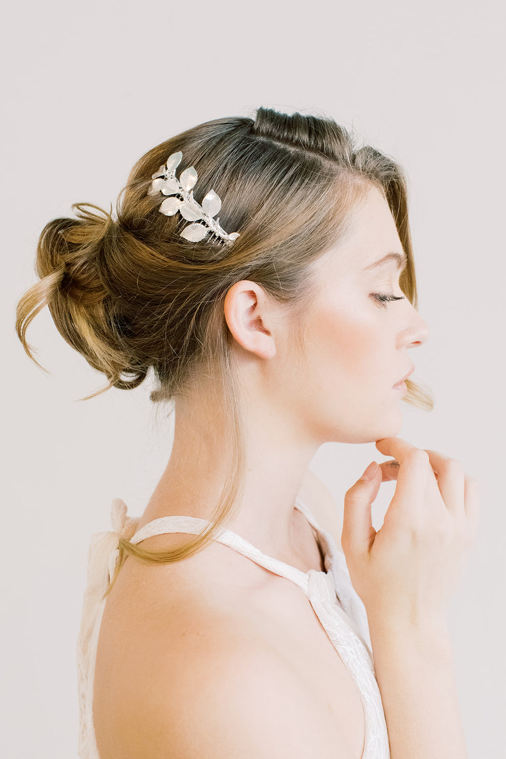 Leaves and Twigs Bridal Comb - Bridal Boho Comb, wedding hair piece
