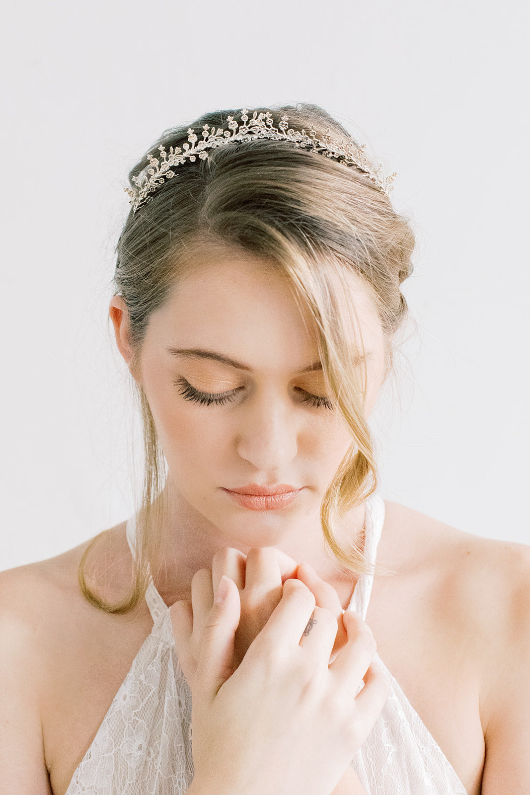 Delicate Blossoms Tiara Style Crown - Headband, Flower Crown, Bridal, Head Piece, Hair Accessories