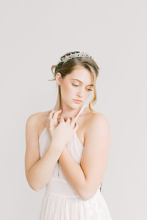 Starry Night Crown - Silver Headband, Celestial, Bridal, Head Piece, Hair Accessories