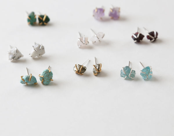Healing Gemstone Studs - Eight Stone Choices