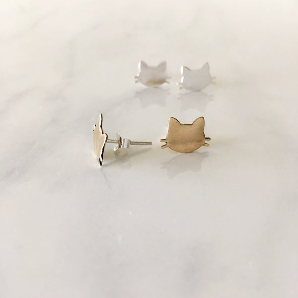 Pussycat Stud Earrings