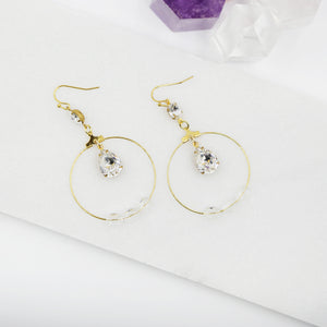 Deco Swarovski Crystal Drop Statement Earrings