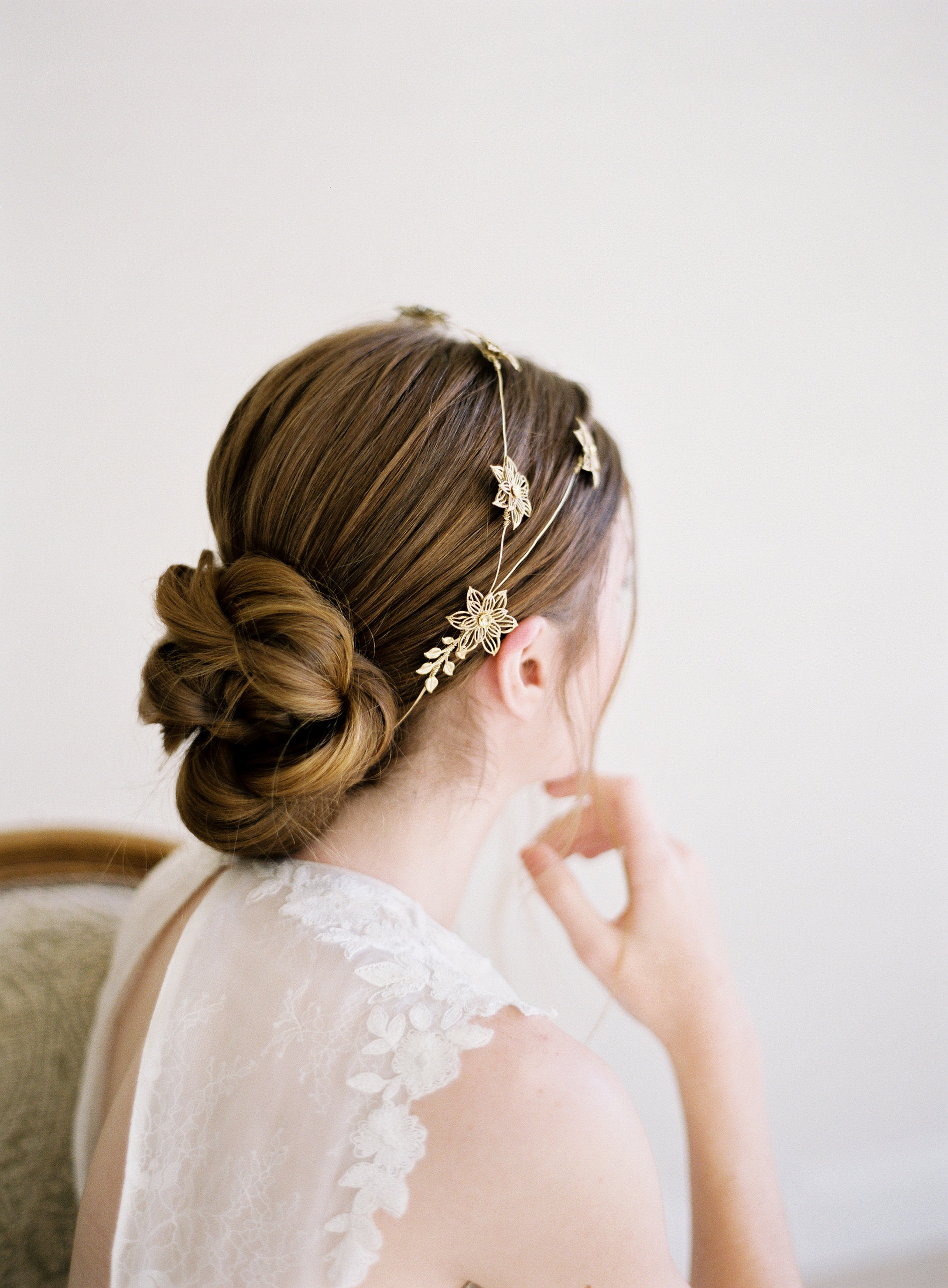 stargazer lily bridal crown