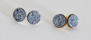 druzy stud earrings