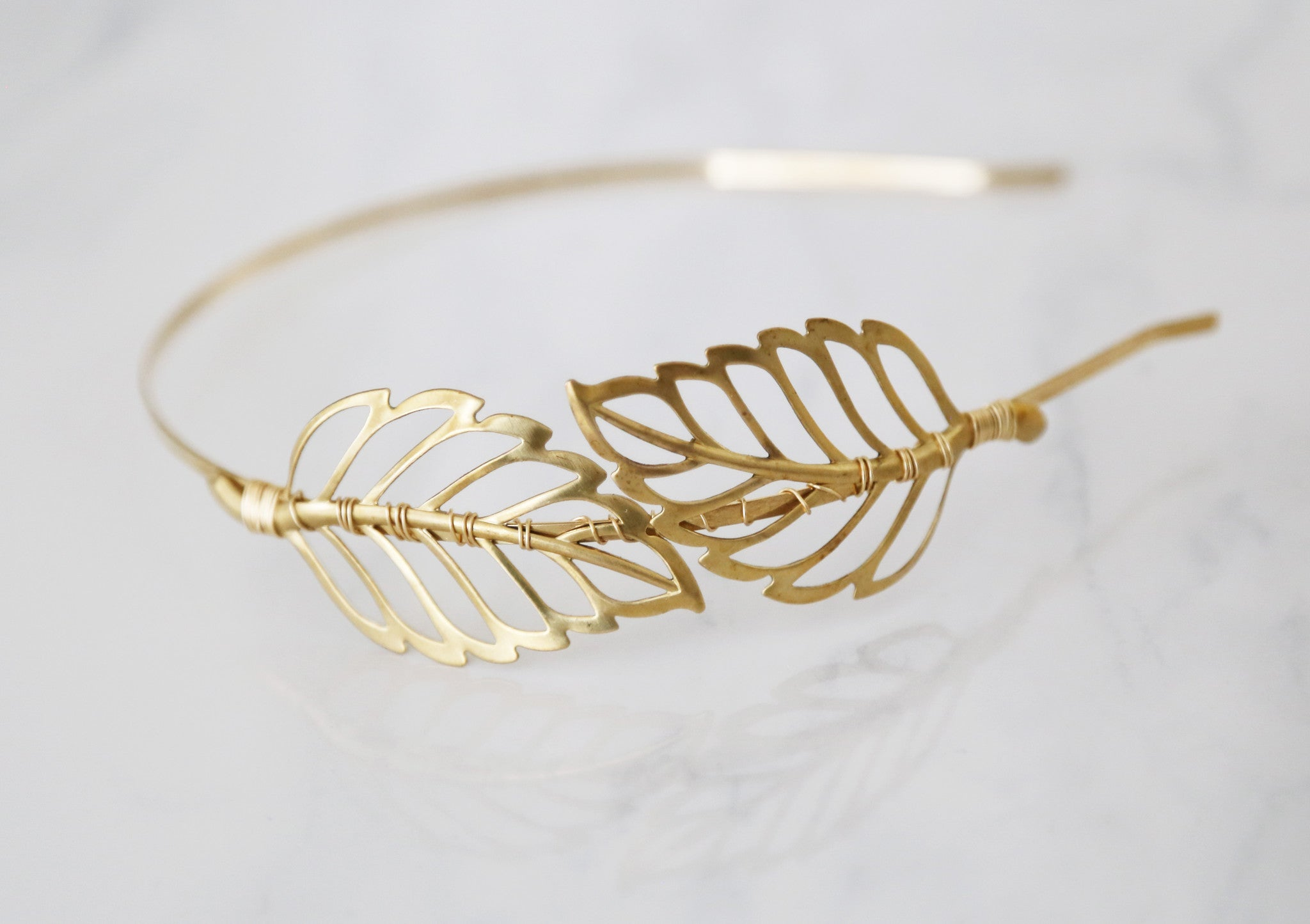 gold leaf headband