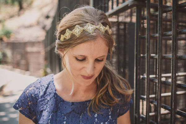 Filigree Crowns - Brass Filigree Crown Headbands