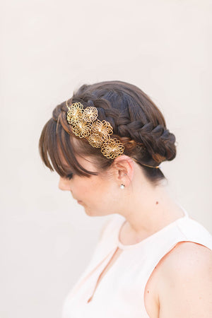 flower crown gold