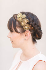 gold wedding headband