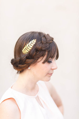 bridal hair comb gold