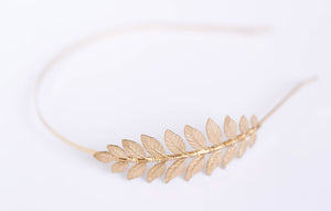 gold goddess laurel leaf headband