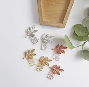 leaf bridal hair combs