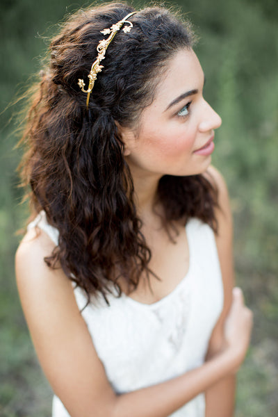 Lily Vine Gold Headband
